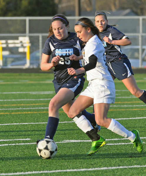 Downers Grove South at Hinsdale South girls soccer