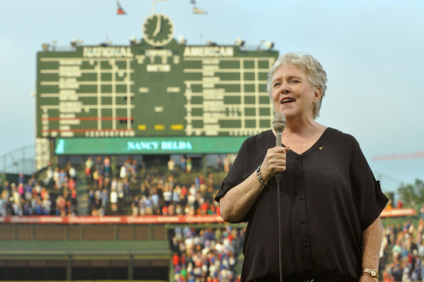 Belda sings at Wrigley Field