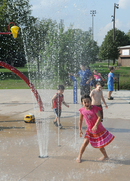 Fun on the Ehlert splash pad