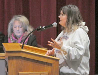 Protests aired at Dist. 365U school board meeting