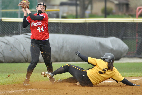 Hinsdale Central at Hinsdale South softball